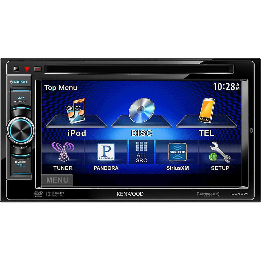"""Kenwood DDX371 - In-Dash 6.1"""" Double DIN LCD Touchscreen CD/MP3/DVD  Receiver w/ Bluetooth - Car DVD receivers - Custom Sounds"""