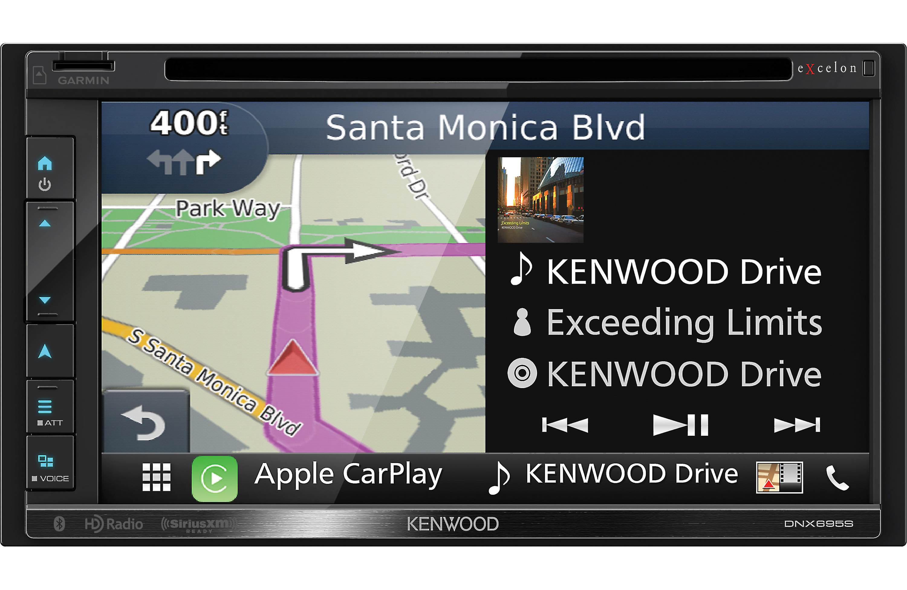 Kenwood DNX695S - 6 8 Inch AV Navigation System with