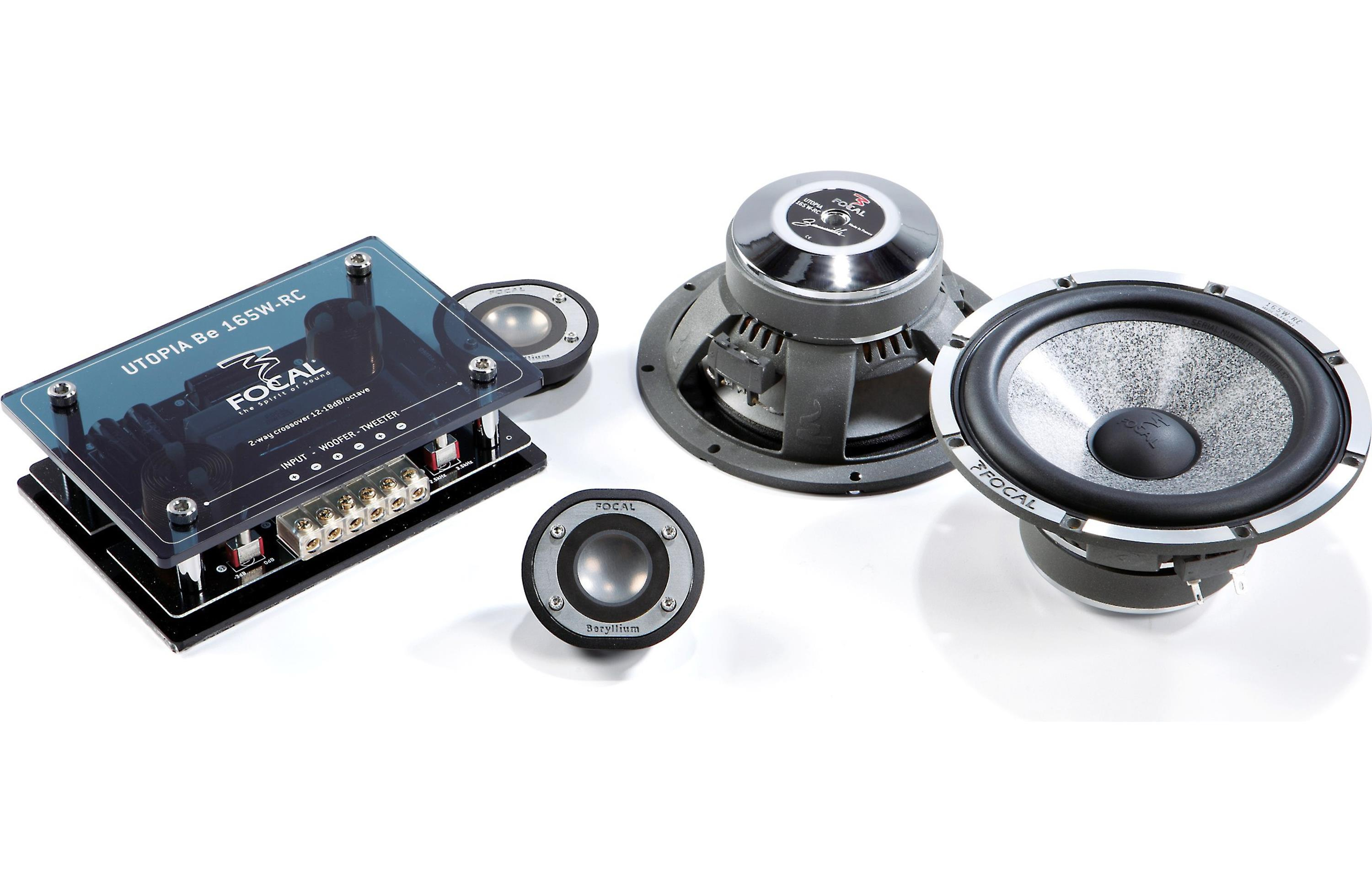 Focal 165W-RC - 2-Way Speaker Driver Kit - Component car